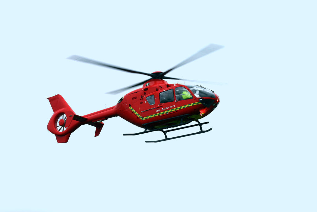 air ambulance helicopter accident emergency injury compensation claims Aberdeen