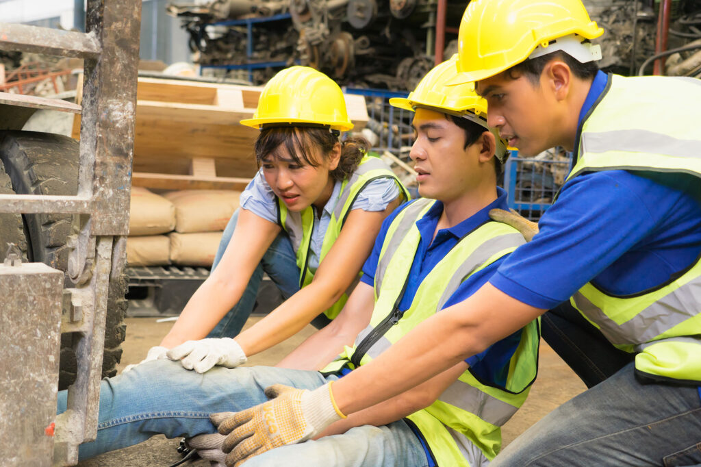 crushing injuries trapped crushed at work accident compensation solicitors Aberdeen