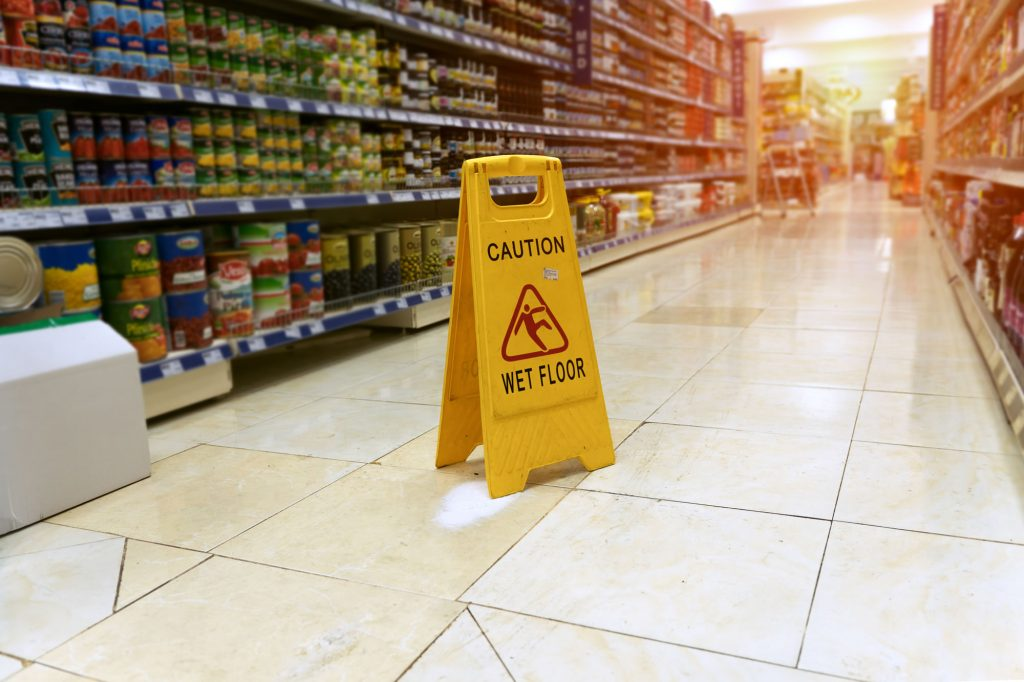 Slips, Trips & Falls in supermarkets, shops and shopping centres